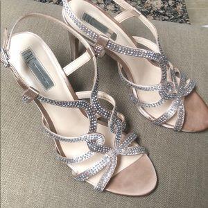 International Concepts Jeweled Strap Heels